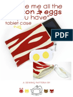 Bacon Eggs Tablet Case Sewing Pattern 2