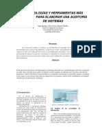 Metodologías y Herramientas Más Comunes Para Elaborar Una Auditoría de Sistemas Paper