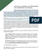 Firmeza de Declaraciones Con Pérdidas Ley 1819 de 2016 (Art. 88, 89, 277 y 376)