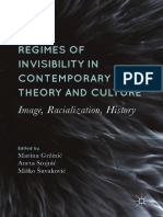 Regimes of invisibility in contemporary art, theory and culture