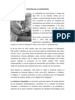 Historia de La Osteopatía