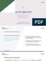 Plan de Trabajo IIRSA 2018