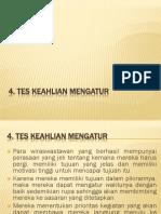 4. Tes Keahlian Mengatur