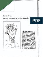 Prieto, Martín, Chiáppori, un escritor fracasado