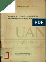 Vocablo de La Lengua Qunigua