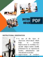 Instructional Observation Presentation