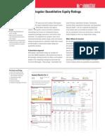 Quantitative Equity Ratings Fact Sheet