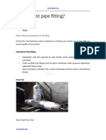 How to Test Pipe Fitting