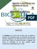 PRINCIPIOS BIOETICOS