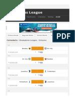 Calendario Champions League 2017_2018 Octavos - As.com