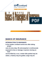 Basics & Principles of Insurance