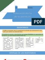 Unidad 4 .-Administración de Inventarios