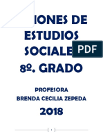Guiones de Estudios Sociales Unidad 1 8o Grado 2018