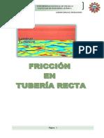 Op Fricción en Tuberias