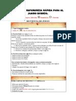 TABLA  DE REFERENCIA RÁPIDA PARA EL JUEGO BÁSICO PDF