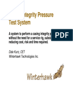 Wh Casing Integrity Pressure Test System