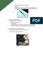 Pasos de mantenimiento del sistema de  lubricación