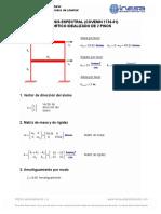 Ejemplo_Pórtico Idealizado de 2 Pisos_Análisis Espectral (Covenin 1756-01)