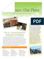our space our place handout