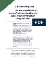 The Erfurt Program