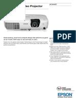 Epson EB X7 Video Projector Datasheet