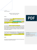 DELA CERNA - Case Brief Bermudez v. Exec Sec Torres