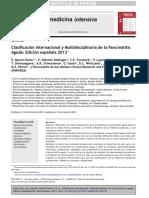 Clasificación Internacional y Multidisciplinaria de La Pancreatitis Aguda 2013