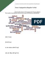 Present Conjugation Wordle GERMAN A1