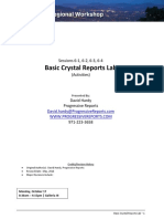 Crystal Report Activities