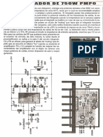 Amplificador de 750W PMPO