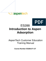 Introduction Aspen Adsorption