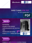 Wind Tunnel Spin Test