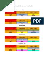 Jadual Kelas Sesi 2018