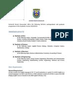 UBD Programmes Offer for BDGS 2018-2019