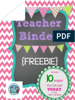 Free Print Able Teachers Binder Chalkboard Style