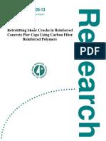 200513 Retrofitting Shear Cracks in Reinforced Concrete Pier Caps Using Carbon Fiber Reinforced Polymers