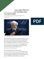11 Datos Curiosos Sobre Warren Buffett,..