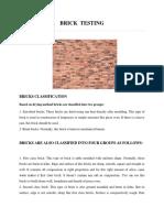Brick Testing