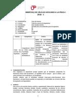 SILABO Calculo Aplicado a La Física I Ciclo 2018-1