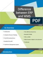 Difference between Warehouse Management System (WMS) and Enterprise Resource Planning (ERP) System