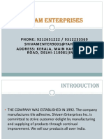 Shivam Enterprises Ppt