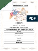 Project - Preparatoin of Icre Cream Final