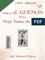 Jean MarcAllemand ReneGuenon LesSeptToursDuDiable (1)