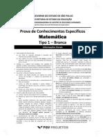 Fgv 2013 Seduc Sp Professor Matematica Prova