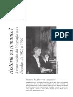 A Renovação da Biografia décadas 20 a 40 no Brasil