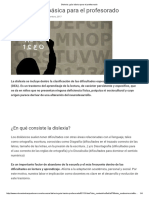 Dislexia - Guía básica para el profesorado [Educaciontrespuntocero]