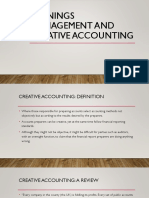 Earnings Management and Creative Accounting