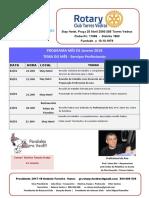 Programa Mês de Janeiro 2018