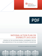 Nationaler Aktionsplan Behinderung 2012-2020 National Action Plan on Disability 2012 2020