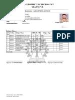Student Registration Card